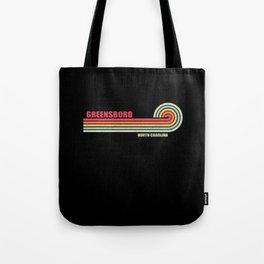 Greensboro North Carolina City State Tote Bag