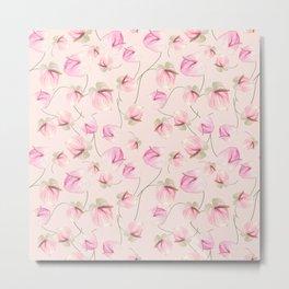 seamless   pattern of Anthurium Flowers Metal Print