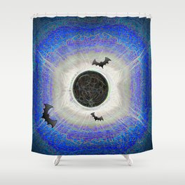 HALLOWEEN ECLIPSE IS NEVER OVER Shower Curtain