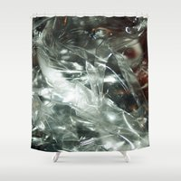 transparent Shower Curtains featuring Transparent by Shannice Wollcock