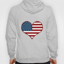 Love USA Heart Flag - Patriot/Independence Day Hoody