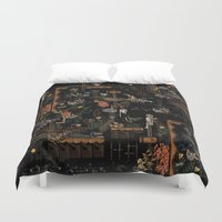 new year Duvet Covers featuring new year by PAULTHEODORE