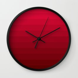 Red striped pattern Wall Clock
