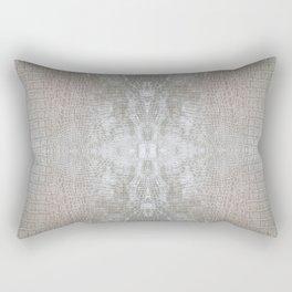 Silver Velvet Snake Pattern Rectangular Pillow