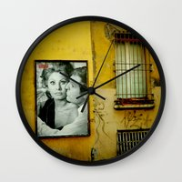 italy Wall Clocks featuring italy by sustici