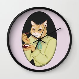 Cat Highlight Wall Clock