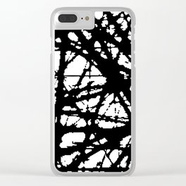 tension, black and white Clear iPhone Case