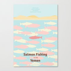 Salmon Fishing in the Yemen - Minimal poster Canvas Print