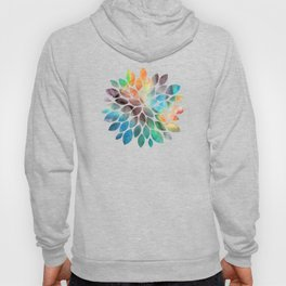 Colorful watercolor abstraction Hoody