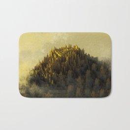 Golden mountain peak Bath Mat