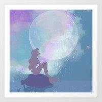 ariel Art Prints featuring ariel by Vita♥G