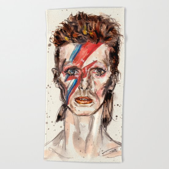 Bowie Inspired David Beach Towel