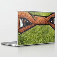 teenage mutant ninja turtles Laptop & iPad Skins featuring Michaelangelo (Teenage Mutant Ninja Turtles) by chris panila