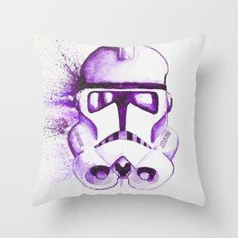 Purple Clone trooper Throw Pillow
