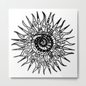 Sun Doodle black and white drawing by lebensart