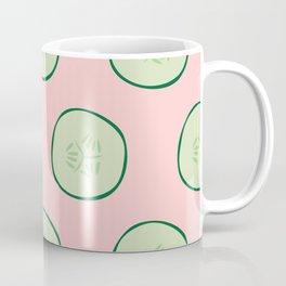 Bright Refreshing Summer Pink Cucumber Pattern Coffee Mug