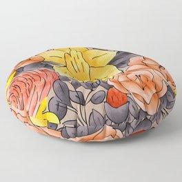 Random Flowers Floor Pillow
