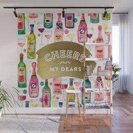 Cheers My Dears – Gold Wall Mural