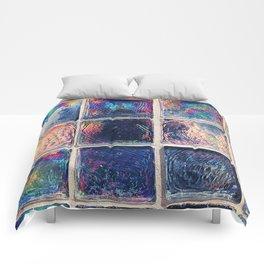 Iridescent Squares Comforters