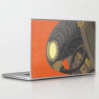 bioshock infinite Laptop & iPad Skins featuring SongBird - BioShock Infinite by LindseyCowley