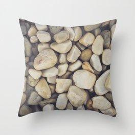White Stones Throw Pillow