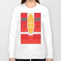 transformers Long Sleeve T-shirts featuring Starscream Transformers Minimalist by Jamesy