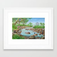 river Framed Art Prints featuring  river  by Amy Fan