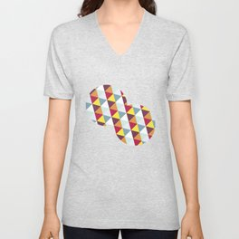 WARM AND COLD TRIANGLES Unisex V-Neck