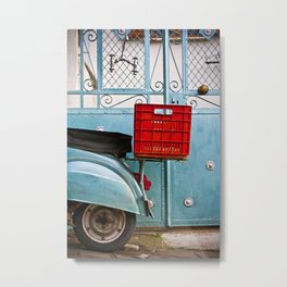 Travel or Stay the Same Color Metal Print