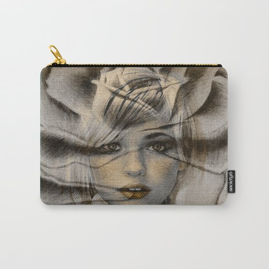 Rose Face Carry-All Pouch
