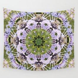 Lacy Lavender Wild Bergamot Kaleidoscope Wall Tapestry