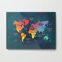 world map 49 color Metal Print