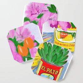 Flores, El Pato, Still Life Coaster