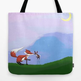 The Fox and the Hare Tote Bag