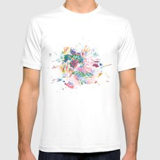 Tropical MEDIUM White Mens Fitted Tee
