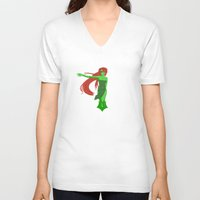 poison ivy V-neck T-shirts featuring Poison Ivy by revolver74