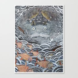 Golden Fishes Canvas Print