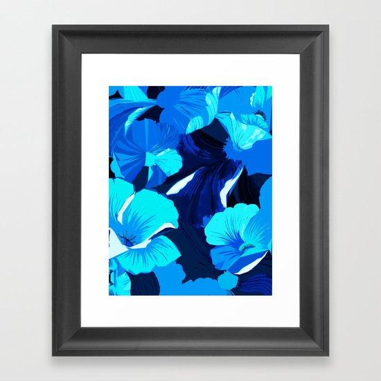Donna's Spring Woodcut Framed Art Print