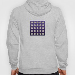 Daisies (blue-purple background) Hoody