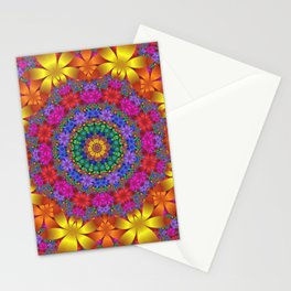 floral mandala -1- Stationery Cards