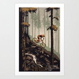 Think outside mountain bike poster Art Print
