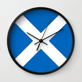 flag of scotland – scotland,scot,scottish,Glasgow,Edinburgh,Aberdeen,dundee,uk,cletic,celts,Gaelic Wall Clock