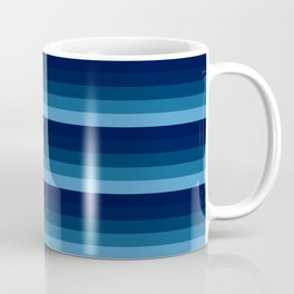 teal blue stripes Coffee Mug
