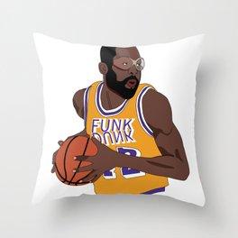 Los Angeles Basketball Legend Throw Pillow