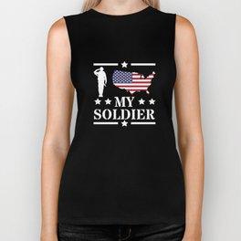 I Love My Soldier Veterans Day War Hero Apparel Gift Biker Tank