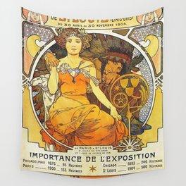 Alphonse Mucha World's Fair St Louis Missouri 1904 Wall Tapestry