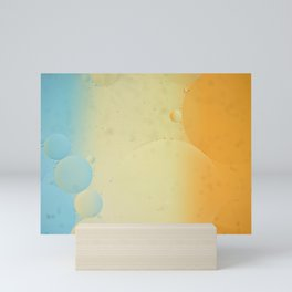 Rainbow abstract background picture made with oil, water and soap Mini Art Print