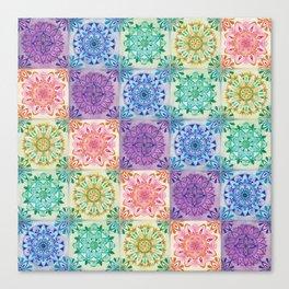 Mandala Rainbow Canvas Print