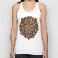 royal Tank Tops featuring Lion (Royal) 2.0 by Norman Duenas