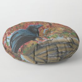 Autumn Raven Floor Pillow